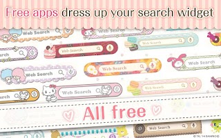 Screenshot of kawaii widget DRESSAPPS -FREE-