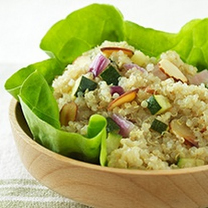 Quinoa Salad With Zucchini, Almonds And Toasted Sesame Dressing Recept ...