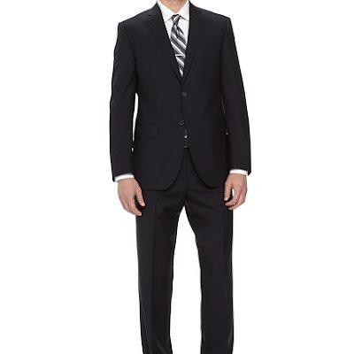 Neiman Marcus Two-Piece Italian Wool Suit, Navy - (40S)