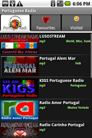 Portuguese Radio Player