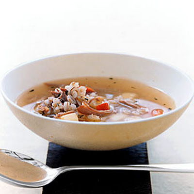Barley Soup with Duck Confit and Root Vegetables