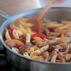 Penne with Pork & Peppers