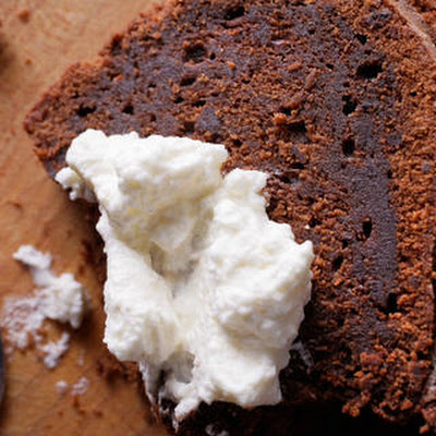 Chocolate-Whiskey Cake with Fluthered Cream