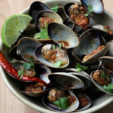 Clams with Tequila and Chorizo