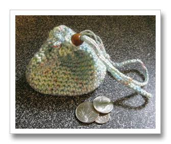 Crocheting Facts : ... Crochet change purse pattern, tutorial and Facts about the color blue