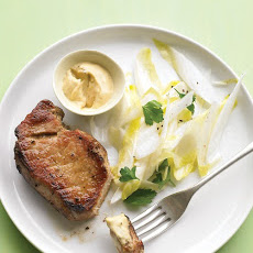 Pork Chops with Endive Salad and Caraway Mustard