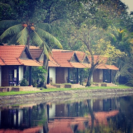 by Abhinanda Naresh - Buildings & Architecture Homes ( peace, Beautiful, place, Kerala, india, green, reflection, water )