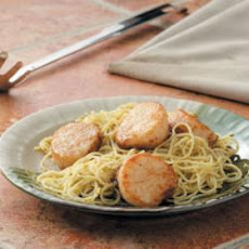 Scallop Pesto Pasta