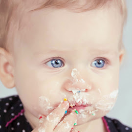 Face by Jenny Hammer - Babies & Children Babies ( face, girl, frosting, baby, cute )
