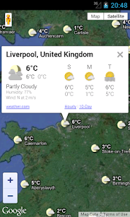 UK Weather Forecast - Map - screenshot