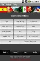 Screenshot of Talk Spanish (Free)
