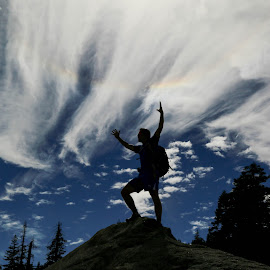 Top of the World Ma! by Tim Davies - Sports & Fitness Climbing ( victory, yosemite, climder, high, elation, summit, triumph, hike )