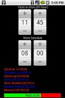 Screenshot of Work Clock