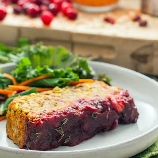 Cranberry & Maple Glazed Lentil Loaf
