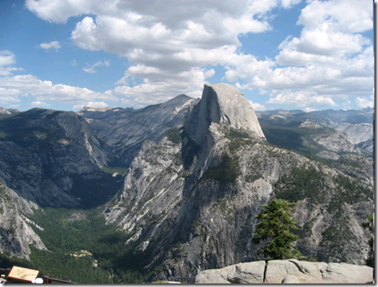 Half Dome at Yosemite from Glacier Point