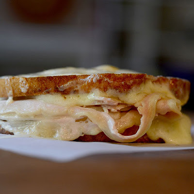 Double Grilled Cheese & Turkey Sandwich