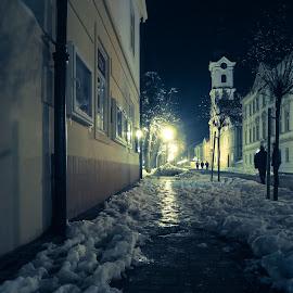 Bjelovar by Štefan Brajković - City,  Street & Park  Night ( croatia, bjelovar-bilogora county, bjelovar )