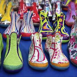 These Boots are Made for Walking by Venetia Featherstone-Witty - Artistic Objects Clothing & Accessories ( shoes, footwear, clothing accessories, boots, colorful footwear, artistic, object )