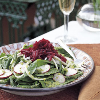 Green Bean, Spinach, and Beet Salad