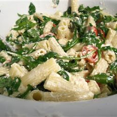 Goat Cheese and Arugula over Penne