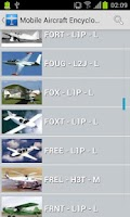 Screenshot of Mobile Aircraft Encyclopedia