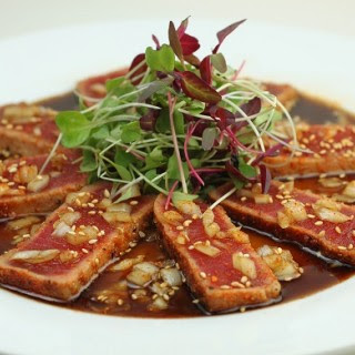 SYD Signature Seared Ahi Tuna w Maui Onion Dressing
