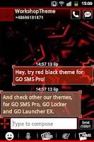 Screenshot of Red Black GO SMS Theme