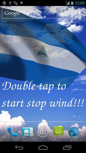 3D Nicaragua Flag LWP