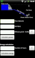 Screenshot of Hydropower calculator