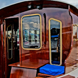 Wonderful and Wood by Barbara Brock - Transportation Boats ( boat show, lake coeur d'alene boat show, wooden boat )