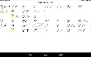 Screenshot of Fakebook, Real Gig Sheet Music