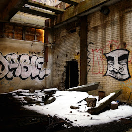 Graffiti Mill by Jen Morgan - Buildings & Architecture Bridges & Suspended Structures ( urban, mill, graffiti, decay, abandoned )
