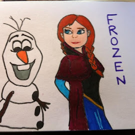 Frozen by Kelly Robinson - Drawing All Drawing