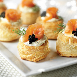 Smoked Salmon Blini Puffs