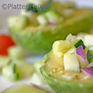 Avocado with Cucumber Salsa