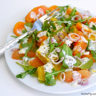 Fresh Citrus Salad with Homemade Poppy Seed Dressing