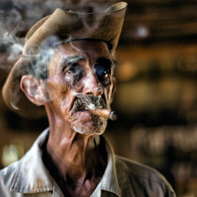 Francisco by Terry Scussel - People Street & Candids ( cigar smoker, cuba )