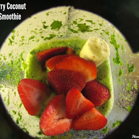 Strawberry Coconut Green Smoothie