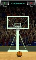 Screenshot of 3D Basketball Shot