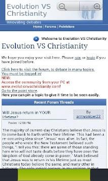 christianity vs evolution