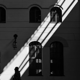 station. moscow by Vlad Sidorak - City,  Street & Park  Historic Districts ( black and white, street, street photography,  )