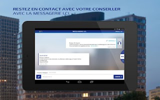 Screenshot of LCL Mes Comptes pour tablette