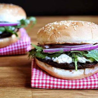 Grilled Portobello Mushroom and Boursin Cheese Burgers