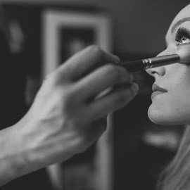 Getting ready by Jasmina Grgić - Wedding Getting Ready ( face, wedding photography, detail, makeup, wedding, brush, bride )