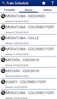 Screenshot of Sri Lanka Train Schedule