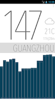 Screenshot of Air Quality China | Minimalist