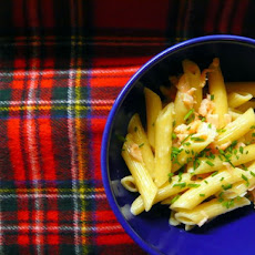 Penne with Smoked Salmon and Whisky Cream Sauce