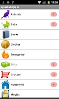 Screenshot of SplashShopper List Organizer