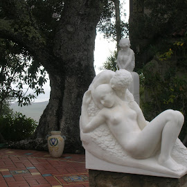 Lovers by Linda McCormick - Buildings & Architecture Statues & Monuments ( love, lovers, white love, heart you, beautiful love )