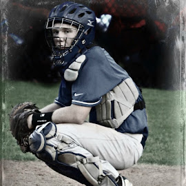 Waiting by Branda Turner - Sports & Fitness Baseball